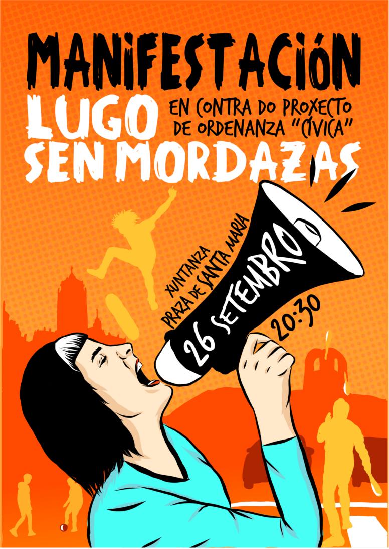 manifestación contra ordenanza civica concello Lugo