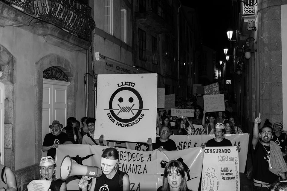 manifestación lugo sen mordazas 26s ordenanza civica mordaza
